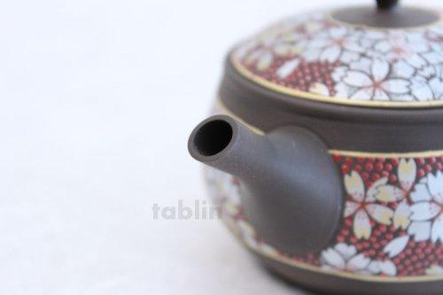 Other Images3: Tokoname Kutani collaborate Japanese tea pot ceramic tea strainer sakura 270ml