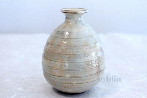 Other Images1: Hagi yaki ware Japanese Sake bottle and Sake cup set Kobiki futo Keichiro