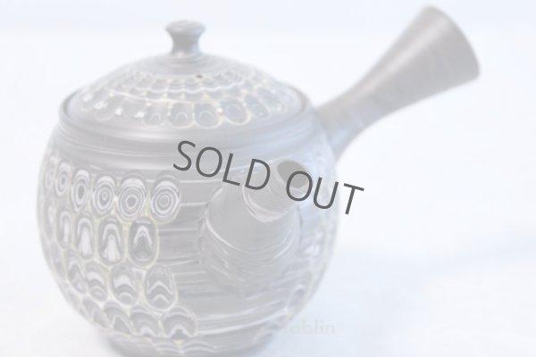 Photo1: Tokoname ware Japanese tea pot kyusu ceramic strainer YT Kenji amime miga 380ml