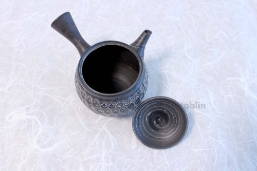 Other Images2: Tokoname ware Japanese tea pot kyusu ceramic strainer YT Kenji amime miga 380ml