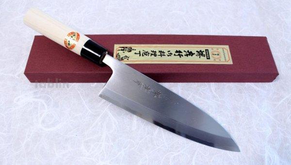 Photo1: SAKAI TAKAYUKI Japanese knife Kasumitogi Yasuki white steel Deba any size