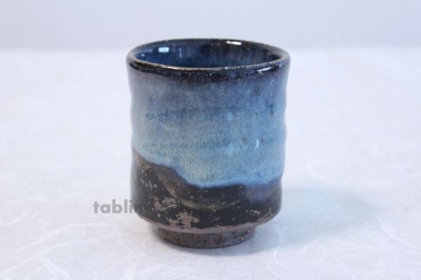 Photo3: Hagi yaki ware Japanese tea cups pottery Aohagi nen blue seigan set of 2