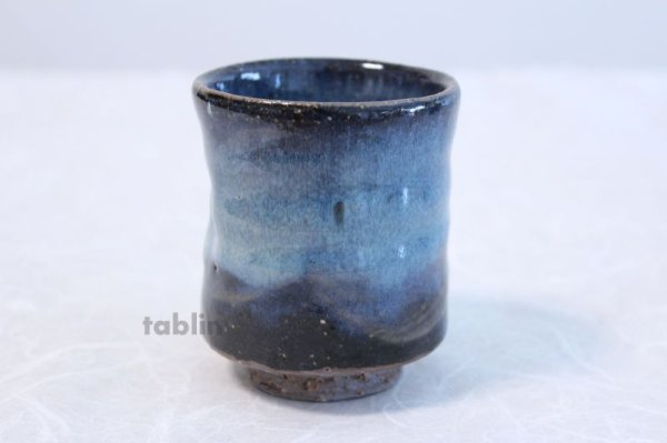 Photo4: Hagi yaki ware Japanese tea cups pottery Aohagi nen blue seigan set of 2