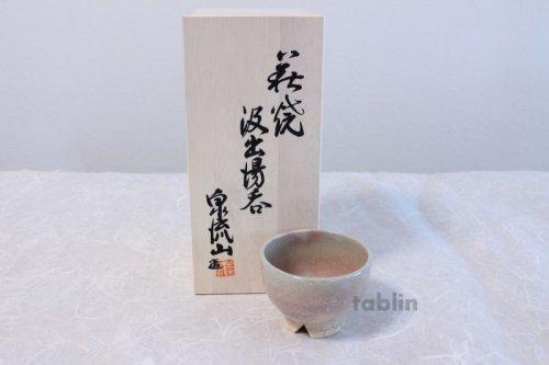 Other Images1: Hagi ware Senryuzan climbing kiln Japanese yunomi tea cups kumidashi set of 5