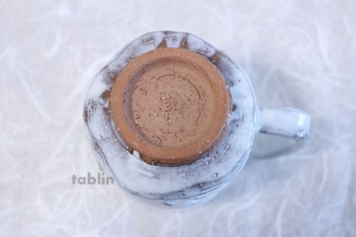 Other Images3: Hagi yaki ware Japanese pottery mug coffee cup to white glaze Keiichiro 300ml