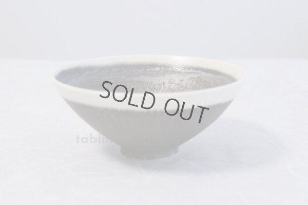 Photo1: Kiyomizu porcelain Japanese matcha tea bowl shirokuro Hira Daisuke Tokinoha