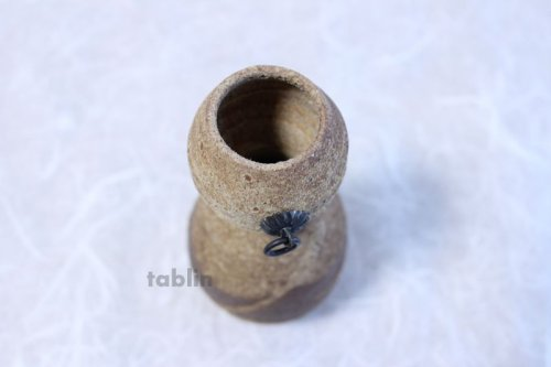 Other Images1: Shigaraki pottery Japanese small vase hisago ko H15cm