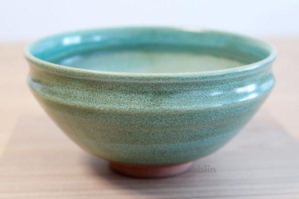 Photo2: Mino yaki ware Japanese tea bowl Ryoku kessho kyo tei chawan Matcha Green Tea
