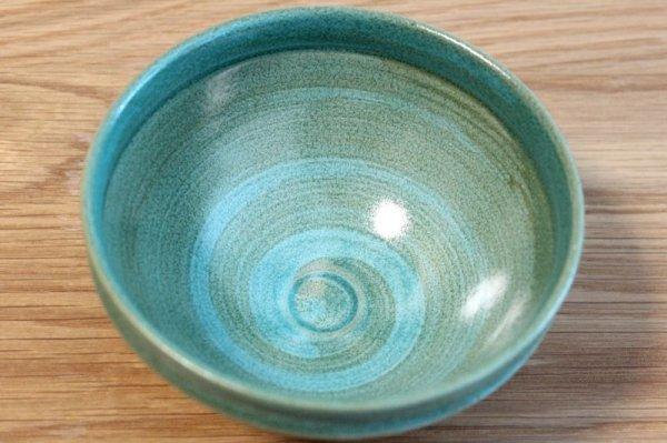 Photo4: Mino yaki ware Japanese tea bowl Ryoku kessho kyo tei chawan Matcha Green Tea