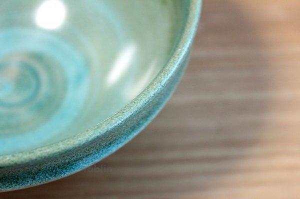 Photo5: Mino yaki ware Japanese tea bowl Ryoku kessho kyo tei chawan Matcha Green Tea