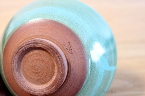 Other Images3: Mino yaki ware Japanese tea bowl Ryoku kessho kyo tei chawan Matcha Green Tea