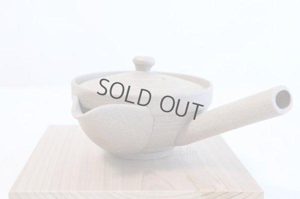 Photo4: Tokoname yaki ware Japanese tea pot Yakishime morisei ceramic tea strainer 200ml
