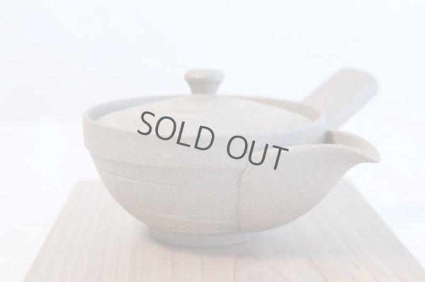 Photo5: Tokoname yaki ware Japanese tea pot Yakishime morisei ceramic tea strainer 200ml