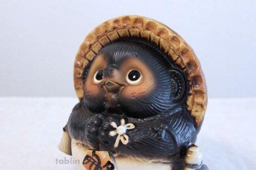 Other Images1: Shigaraki pottery Japanese Tanuki Cute Raccoon Dog Onegai ryote H22cm