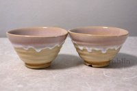 Hagi yaki ware Japanese rice bowl Haginoshizuku set of 2