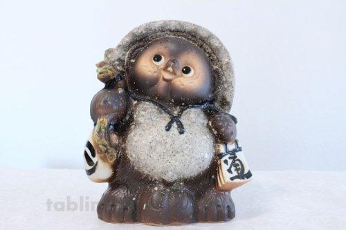 Other Images2: Shigaraki pottery Japanese figurineTanuki Raccoon Dog Kohineri H25.5cm
