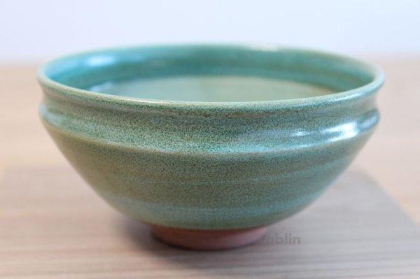 Photo1: Mino yaki ware Japanese tea bowl Ryoku kessho kyo tei chawan Matcha Green Tea
