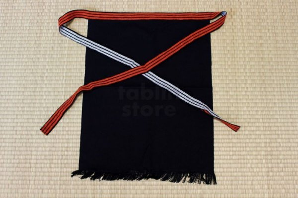 Photo1: Japanese store apron Maekake made in Japan W63 x H47cm any color