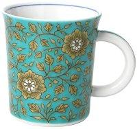 Kutani Porcelain Japanese mug coffee tea cup var. pattern D 8.2