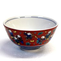 Kutani porcelain Japanese rice noodle bowl var. patterns H5.5cm