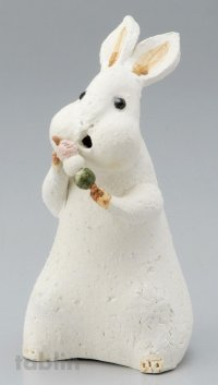 Shigaraki pottery Japanese doll rabbit dango L H200mm