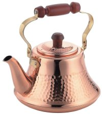 Japanese Copper kettle hammered takekoshi wooden handle 2.0L