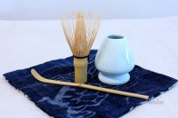 Japanese Chasen Bamboo Tea Whisk Spoon Chasen naoshi holder set Suikaen