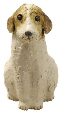 sit dog Shigaraki pottery Japanese doll L H14cm