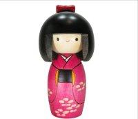 Kokeshi Japanese wooden doll usaburo creative haru woman H14.5 cm