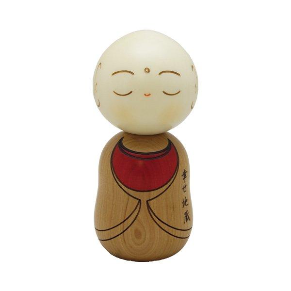 Photo1: Kokeshi Japanese wooden doll usaburo creative Jizo Ksitigarbha H11.5 cm