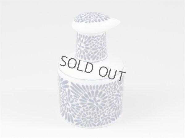 Photo1: Arita porcelain Japanese soy sauce pot bottle tako karakusa blue 200ml