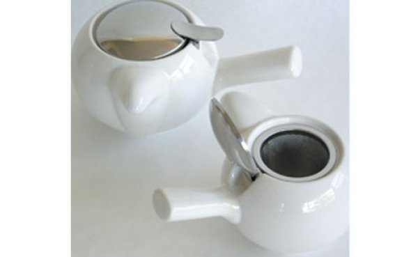Photo3: Japanese ceramics Kyusu tea pot ZEROJAPAN white 230ml
