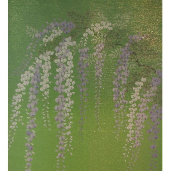 Kyoto Noren MS Japanese Door Curtain Fuji Wisteria Green 85 X 150cm