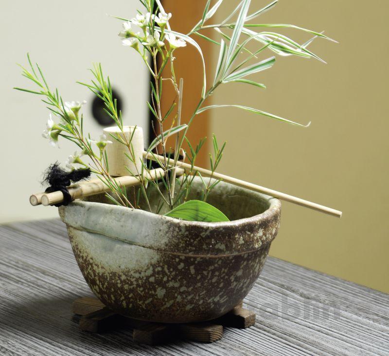 Shigaraki Pottery Japanese Vase Flower Arrangement Ikebana Tsukubai