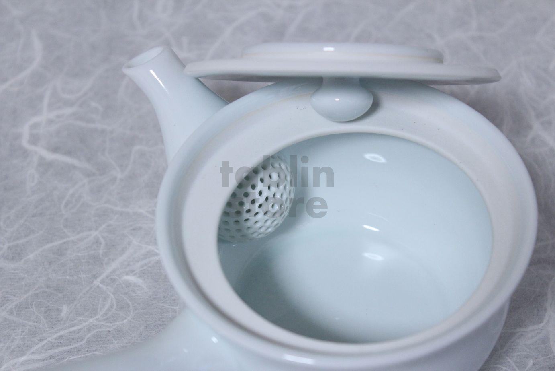 Arita Porcelain Japanese tea pot white ceramic strainer manten 350ml ...
