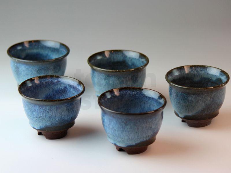 Hagi Ware Japanese Pottery Yunomi Tea Cups So Blue Utaka