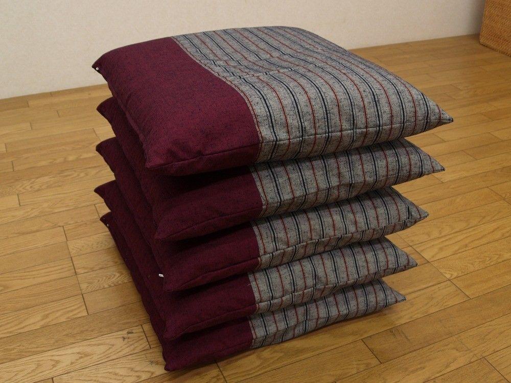 Japanese floor pillow cushion cover zabuton Kurume textile psdik en ...