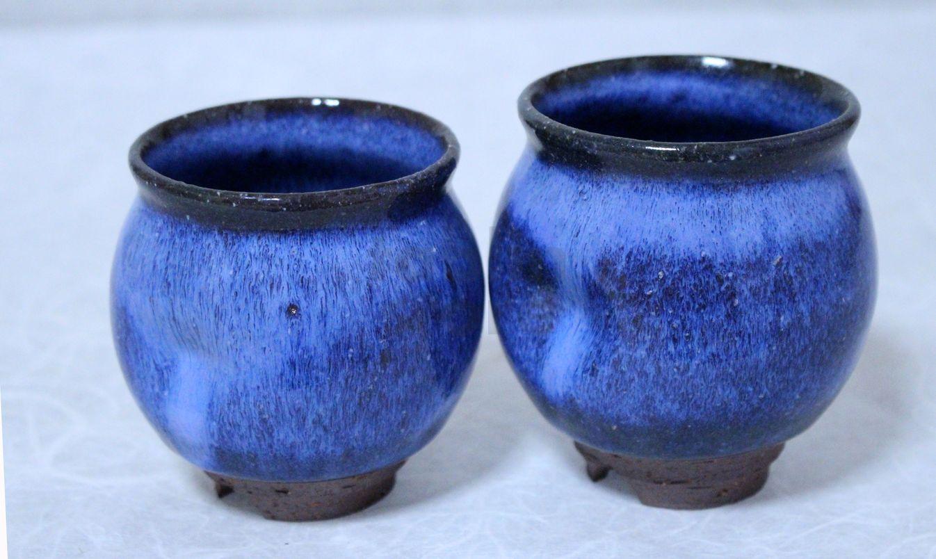 Hagi Yaki Ware Japanese Tea Cups Pottery Watatumi Daruma