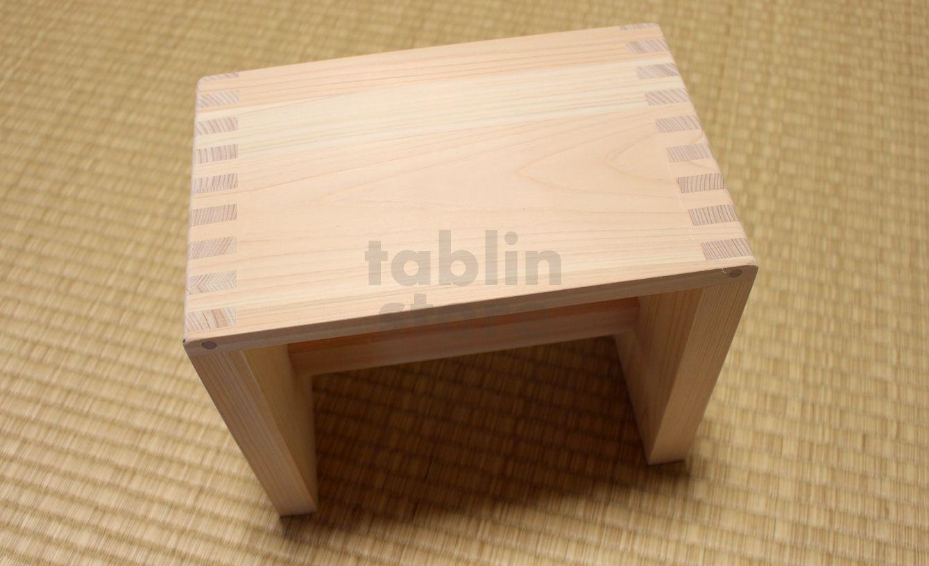 Japanese Hinoki bath chair natural wood Stool size:HL - tablinstore