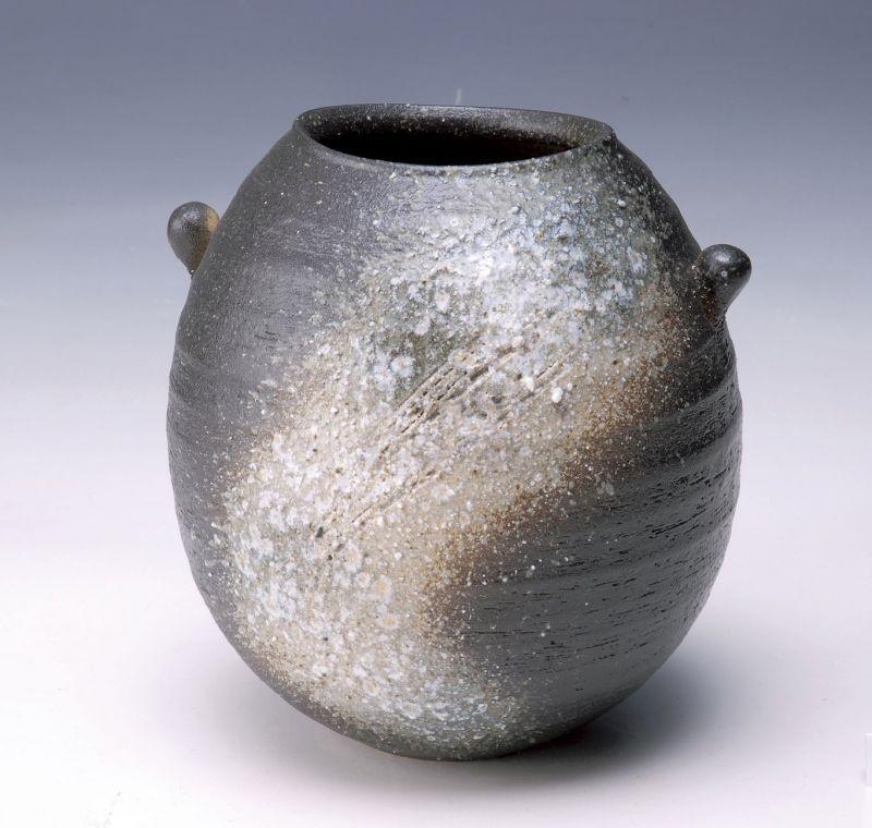 Shigaraki Japanese Pottery Vase Tsuchi Mimitsukiyohen H 195cm