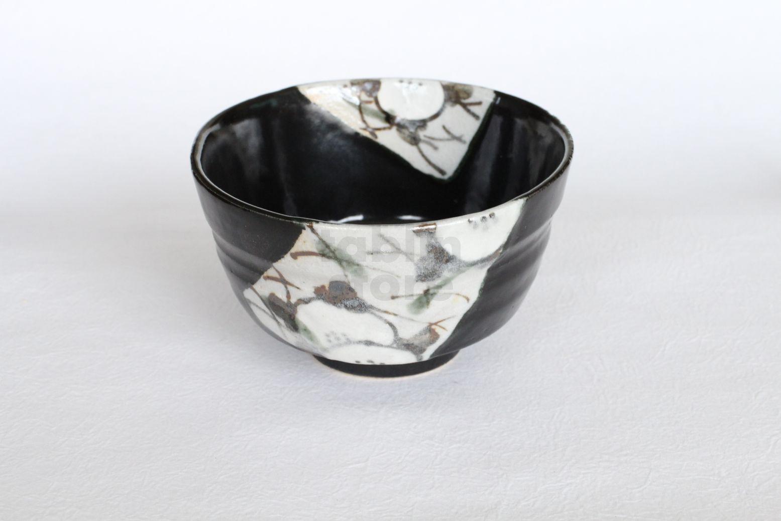 Mino ware Japanese tea ceremony bowl Matcha chawan pottery nishikiyama oribe bl
