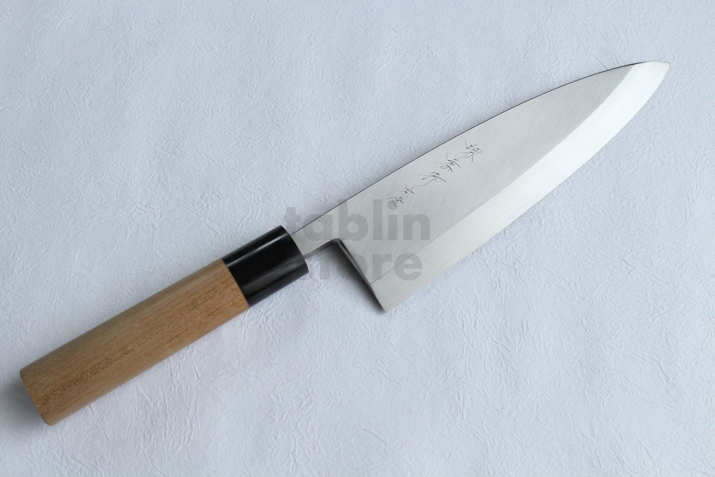 Honyaki water quenching SAKAI TAKAYUKI Deba knife Yasuki White-2 steel