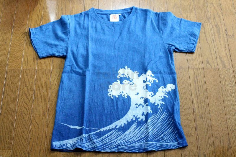 Natural and Hand dyes Mitsuru unisexed T-shirt made in Japan komon mountain