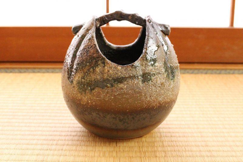 Shigaraki Japanese Pottery Vase Tsuchi Yohen Teoke H 155cm