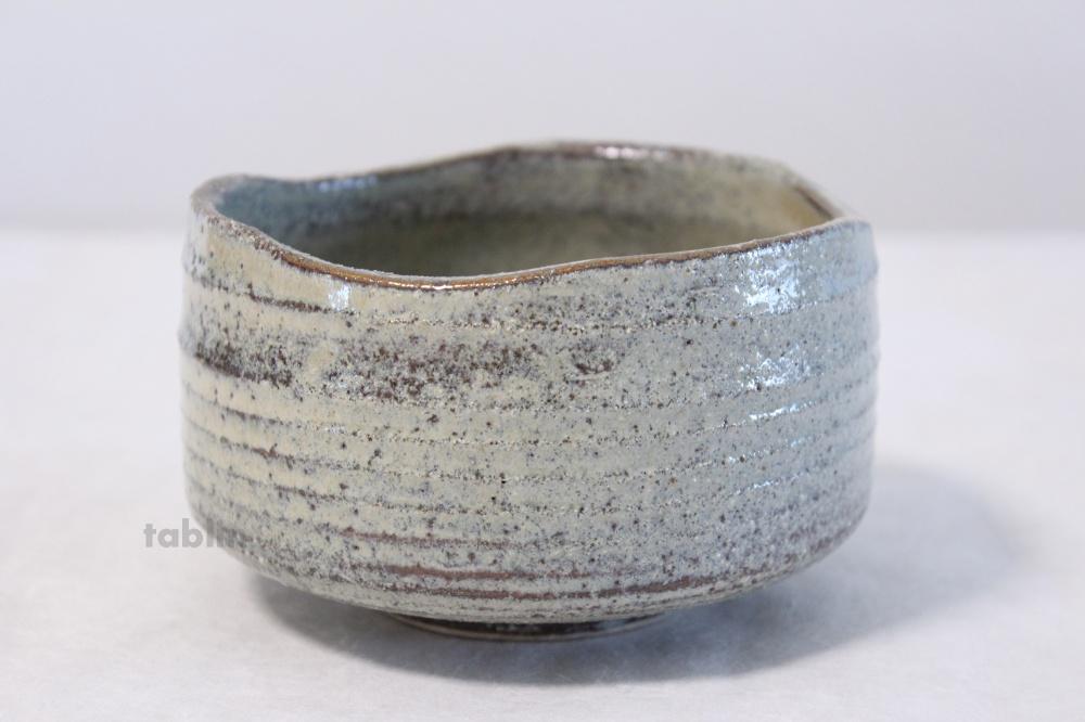 Minoyaki Ware Tea Bowl Hai Gray Glaze Kibo San Japanese