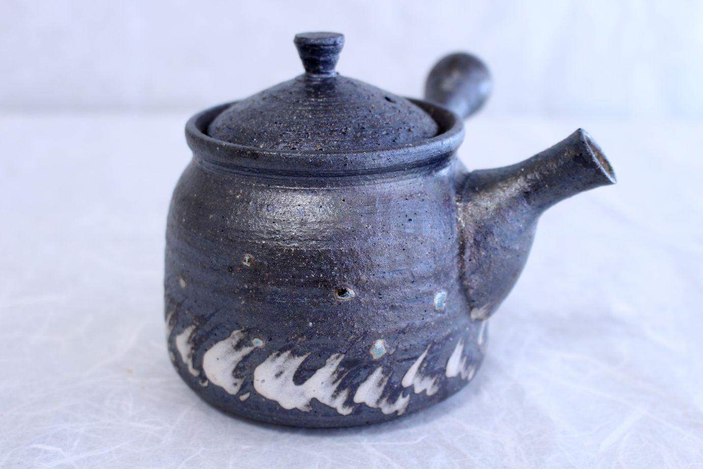 Shigaraki pottery tea strainer japanese tea pot kyusu jyuhyo 400ml tablinstore - Japanese teapot with strainer ...