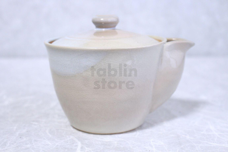 Hagi yaki ware japanese tea pot hime l kyusu pottery tea strainer 420ml tablinstore - Japanese teapot with strainer ...