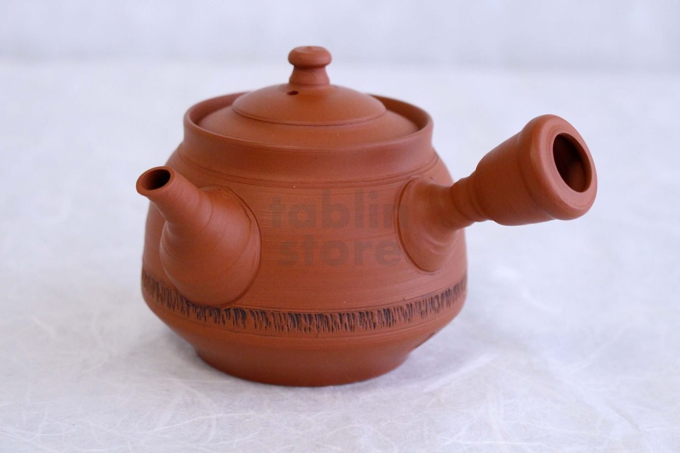 Mid Century Red Clay Teapot from Japan