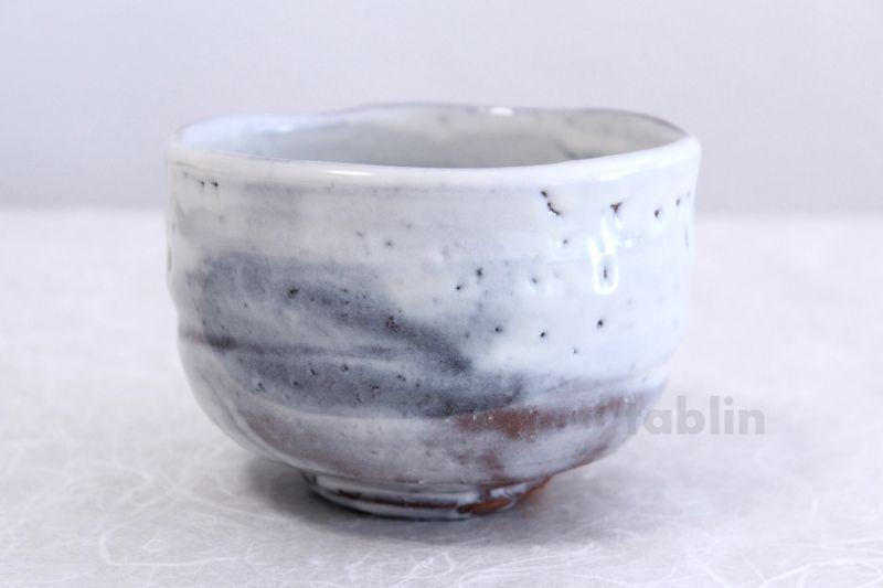 Raku tea bowl green